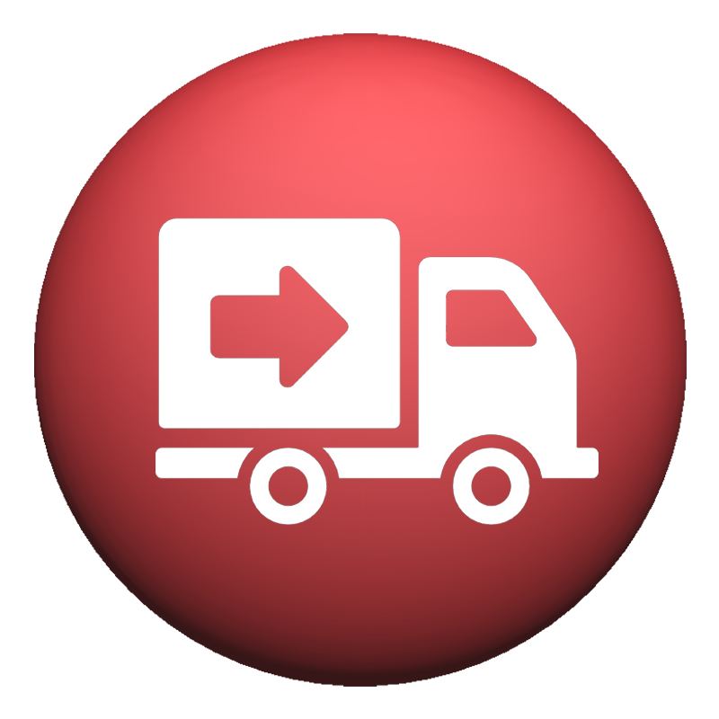 Simplified logistics icon