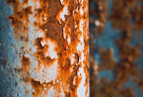 Corrosion on pipe